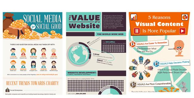 Voorbeelden infographics